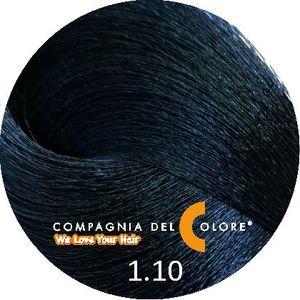 Compagnia Del Colore Стойкий краситель для волос 1/10  Темно-синий 100 мл (CDC краска Del Color)