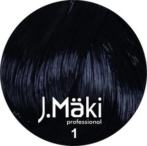 J.Maki Стойкий краситель для волос 1 Черный 60 мл (J.Mäki Professional)