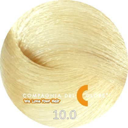 СУПЕРОСВЕТЛЯЮЩАЯ СЕРИЯ 10/0  Натуральный суперсветлый блондин 100 мл (CDC краска Del Color) Compagnia Del Colore