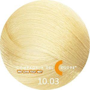 Compagnia Del Colore Стойкий краситель для волос 10/03 Натуральный  теплый платиновый блондин 100 мл (CDC краска Del Color)