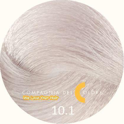 СУПЕРОСВЕТЛЯЮЩАЯ СЕРИЯ 10/1 Натуральный суперсветлый платиновый блондин 100 мл  (CDC краска Del Color) Compagnia Del Colore