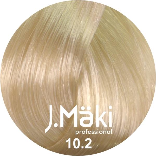 J.Maki Стойкий краситель для волос 10.2 Жемчужный светлый блондин 60 мл (J.Mäki Professional)