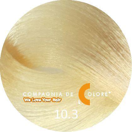 СУПЕРОСВЕТЛЯЮЩАЯ СЕРИЯ 10/3 Натуральный суперсветлый золотой  блондин 100 мл (CDC краска Del Color) Compagnia Del Colore