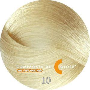 Compagnia Del Colore Стойкий краситель для волос 10 Натуральный платиновый блондин 100 мл (CDC краска Del Color)