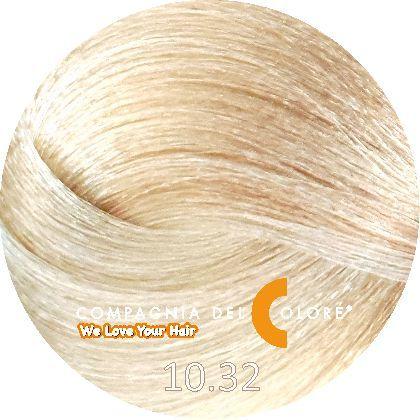 Compagnia Del Colore Стойкий краситель для волос 10/32 Платиново-бежевый блондин 100 мл (CDC краска Del Color)