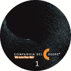 Compagnia Del Colore Стойкий краситель для волос 1 Черный 100 мл (CDC краска Del Color)