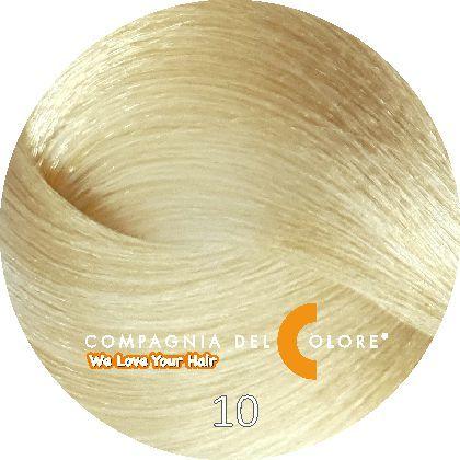 Безаммиачный краситель для волос 10 платиновый блондин натур. 100 мл Compagnia Del Colore (CDC краска Del Color)