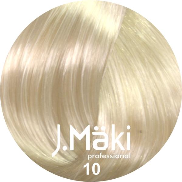 J.Maki Стойкий краситель для волос 10 Светлый блондин 60 мл (J.Mäki Professional)