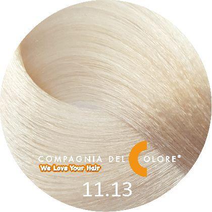 СУПЕРОСВЕТЛЯЮЩАЯ СЕРИЯ 11/13 Перламутрово-платиновый блондин 100 мл (CDC краска Del Color) Compagnia Del Colore