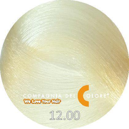 СУПЕРОСВЕТЛЯЮЩАЯ СЕРИЯ 12/00 Чрезвычайно светлый блондин натуральный 100 мл (CDC краска Del Color) Compagnia Del Colore