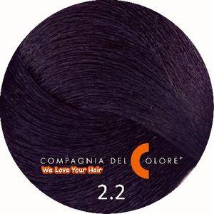 Compagnia Del Colore Стойкий краситель для волос 2/2 Очень темный фиолетово-коричневый  100 мл (CDC краска Del Color)