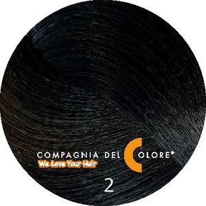 Безаммиачный краситель для волос  2 очень темно-коричневый 100 мл Compagnia Del Colore (CDC краска Del Color)