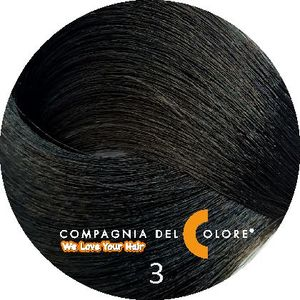 Compagnia Del Colore Стойкий краситель для волос 3 Темно-коричневый 100 мл (CDC краска Del Color)