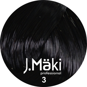 J.Maki Стойкий краситель для волос  3 Темно-коричневый 60 мл (J.Mäki Professional)