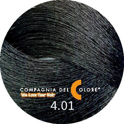 Compagnia Del Colore Стойкий краситель для волос 4/01 Натуральный пепельный коричневый 100 мл (CDC краска Del Color)