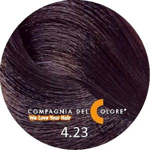 Compagnia Del Colore Стойкий краситель для волос 4/23 Табак, коричневый 100 мл (CDC краска Del Color)