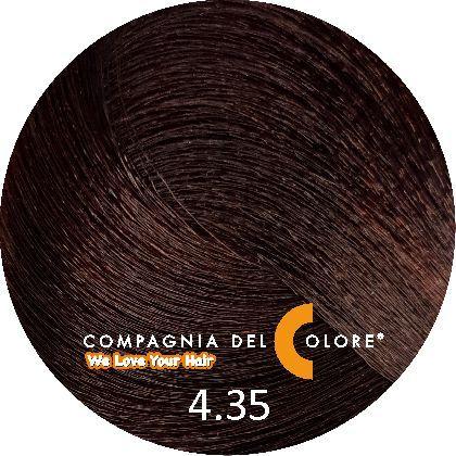Compagnia Del Colore Стойкий краситель для волос 4/35 Коричневый, шоколадный 100 мл (CDC краска Del Color)