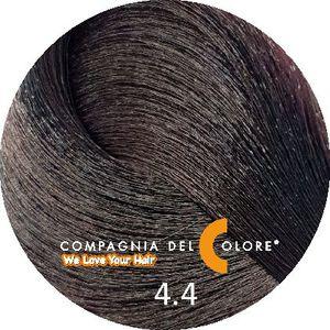 Compagnia Del Colore Стойкий краситель для волос 4/4 Медно-коричневый 100 мл (CDC краска Del Color)