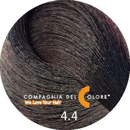 Безаммиачный краситель для волос 4/4 медно-коричневый 100 мл Compagnia Del Colore (CDC краска Del Color)