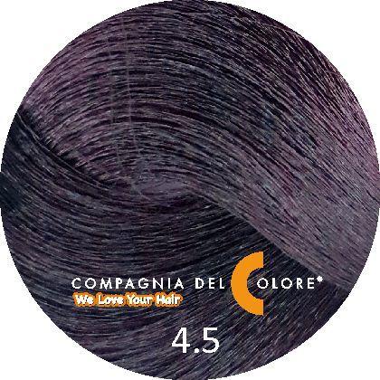 Compagnia Del Colore Стойкий краситель для волос 4/5 Коричневый махагон 100 мл (CDC краска Del Color)
