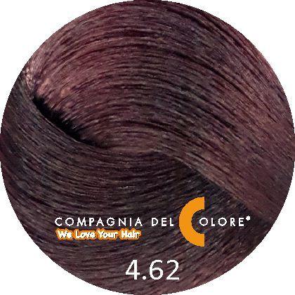 Безаммиачный краситель для волос 4/62 красный фиолет. коричн. 100 мл Compagnia Del Colore (CDC краска Del Color)