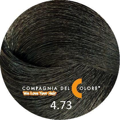 Compagnia Del Colore Стойкий краситель для волос 4/73 Фундук, коричневый 100 мл (CDC краска Del Color)