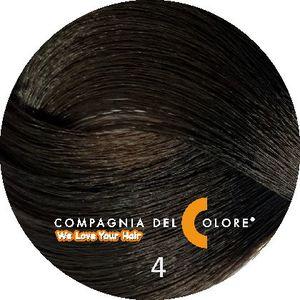 Безаммиачный краситель для волос 4 коричневый 100 мл Compagnia Del Colore (CDC краска Del Color)
