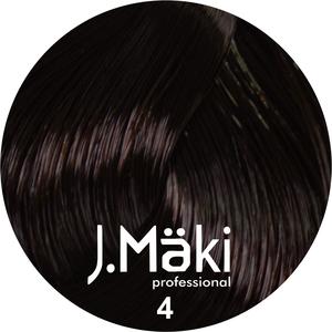 J.Maki Стойкий краситель для волос 4 Коричневый 60 мл (J.Mäki Professional)