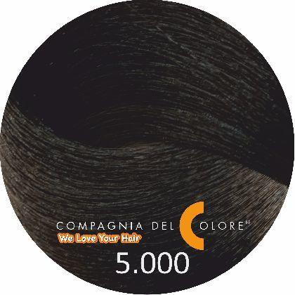 Compagnia Del Colore Стойкий краситель для волос 5/000 Интенсивный натуральный светло-коричневый 100 мл (CDC краска Del Color)