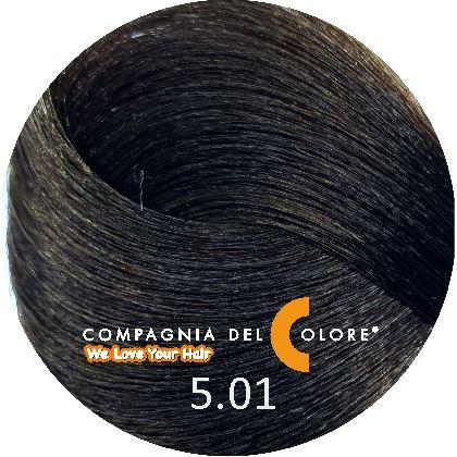 Compagnia Del Colore Стойкий краситель для волос 5/01 Светло-коричневый натуральный пепельный 100 мл (CDC краска Del Color)
