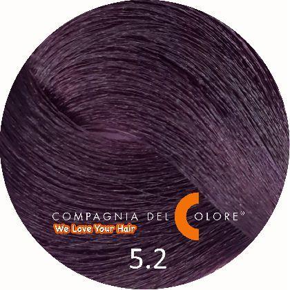 Compagnia Del Colore Стойкий краситель для волос 5/2 Светло коричневый фиолетовый 100 мл (CDC краска Del Color)