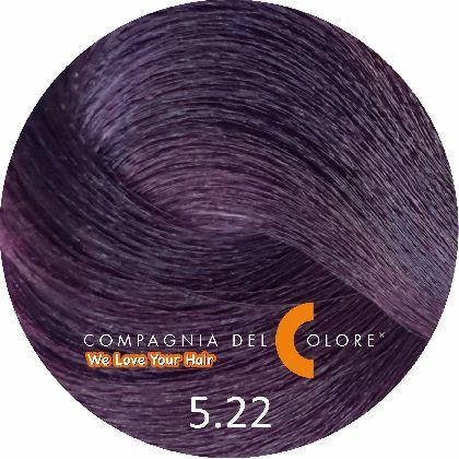 Compagnia Del Colore Стойкий краситель для волос 5/22 Светло коричневый фиолетовый экстра 100 мл (CDC краска Del Color)