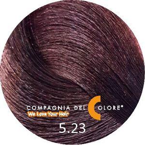 Безаммиачный краситель для волос 5/23 светло-коричневый табакко 100 мл Compagnia Del Colore (CDC краска Del Color)