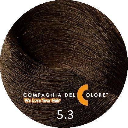 Compagnia Del Colore Стойкий краситель для волос 5/3 Светло-коричневый золотой 100 мл (CDC краска Del Color)