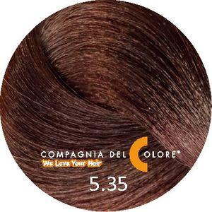 Безаммиачный краситель для волос 5/35 коричневый шоколадный 100 мл Compagnia Del Colore (CDC краска Del Color)