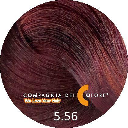 Compagnia Del Colore Стойкий краситель для волос 5/56 Светло-коричневый  махагон красный 100 мл (CDC краска Del Color)