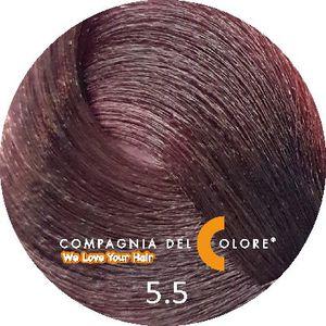 Безаммиачный краситель для волос 5/5 светло-коричн. с красн.дер. 100 мл Compagnia Del Colore (CDC краска Del Color)