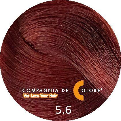 Compagnia Del Colore Стойкий краситель для волос 5/6 Светло-коричневый красный 100 мл (CDC краска Del Color)