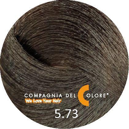 Compagnia Del Colore Стойкий краситель для волос 5/73 Светло-коричневый орех 100 мл (CDC краска Del Color)