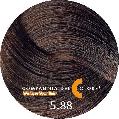 Безаммиачный краситель для волос 5/88 светло-коричневый мокко 100 мл Compagnia Del Colore (CDC краска Del Color)