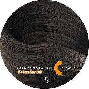 Безаммиачный краситель для волос 5 светло-коричневый 100 мл Compagnia Del Colore (CDC краска Del Color)