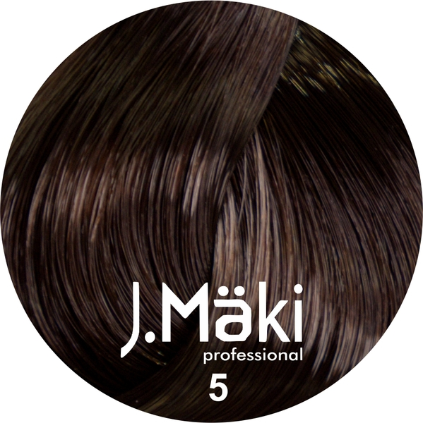 J.Maki Стойкий краситель для волос 5 Светло-коричневый 60 мл (J.Mäki Professional)
