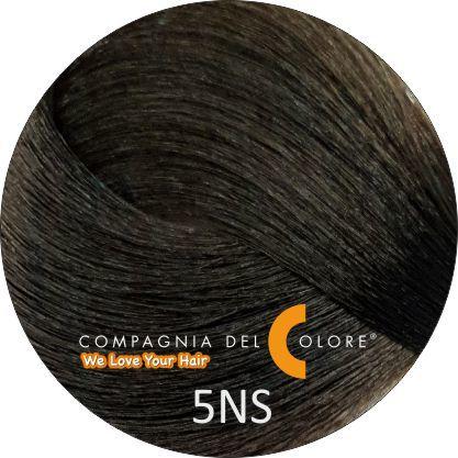 Compagnia Del Colore Стойкий краситель для волос 5 NS Саванна, светло-коричневый  100 мл (CDC краска Del Color)