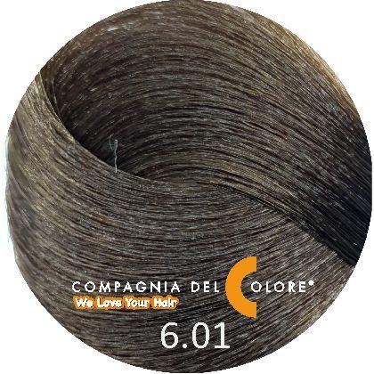 Compagnia Del Colore Стойкий краситель для волос 6/01 Темно-русый натуральный пепельный 100 мл (CDC краска Del Color)