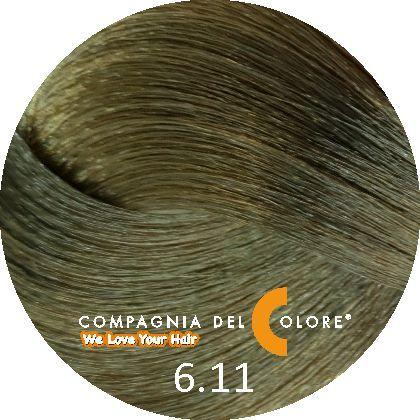 Compagnia Del Colore Стойкий краситель для волос 6/11 Темно-русый матовый 100 мл (CDC краска Del Color)