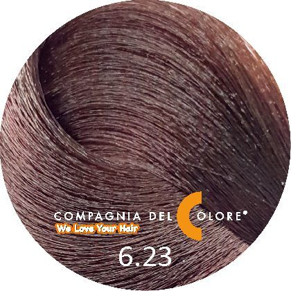 Compagnia Del Colore Стойкий краситель для волос 6/23 Темно-русый табакко 100 мл (CDC краска Del Color)