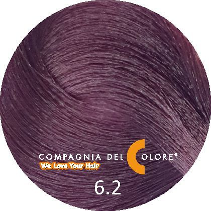Безаммиачный краситель для волос 6/2 темно-русый фиолетовый 100 мл Compagnia Del Colore (CDC краска Del Color)