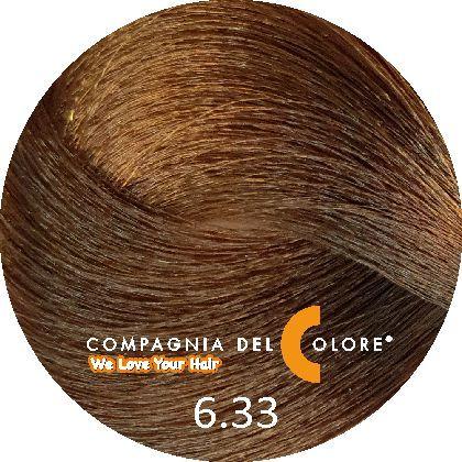 Compagnia Del Colore Стойкий краситель для волос 6/33 Темно-русый золотой интенсивный 100 мл (CDC краска Del Color)