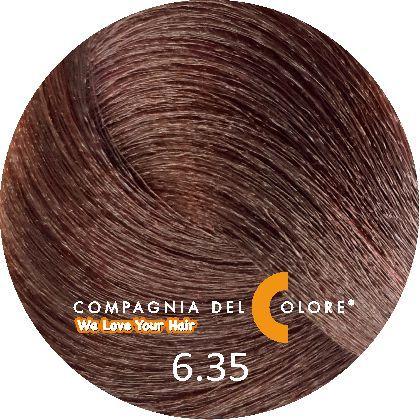 Безаммиачный краситель для волос 6/35 шоколадный блондин 100 мл Compagnia Del Colore (CDC краска Del Color)