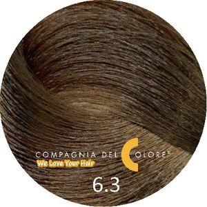 Безаммиачный краситель для волос  6/3 темно-золотой блондин 100 мл Compagnia Del Colore (CDC краска Del Color)